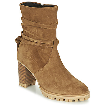 Shoes Women Ankle boots Philippe Morvan LEAST V2 CRTE VEL Camel