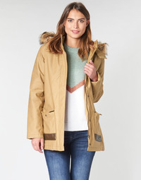 material Women Parkas Roxy TRAVELLING WEST Brown