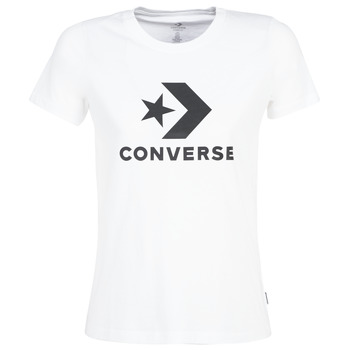 material Women short-sleeved t-shirts Converse STAR CHEVRON White