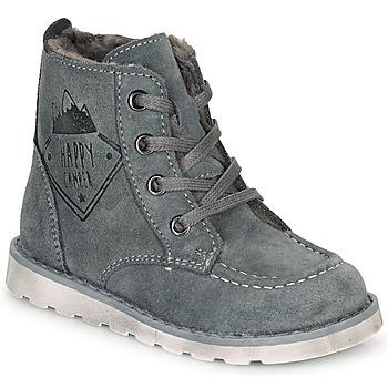 Shoes Boy Mid boots Citrouille et Compagnie LISITON Grey