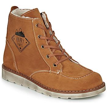 Shoes Boy Mid boots Citrouille et Compagnie LISITON Camel