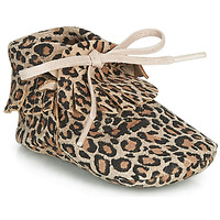 Shoes Girl Slippers Citrouille et Compagnie LILIFI Camel / Leopard