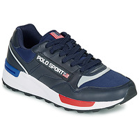 Shoes Men Low top trainers Polo Ralph Lauren TRKSTR100TVK Marine
