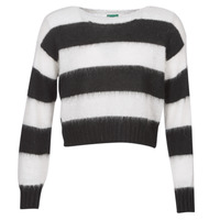material Women jumpers Benetton SATILEM White / Black