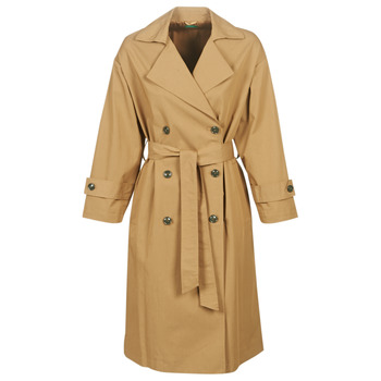 material Women Trench coats Benetton SOCRIA Beige / Dark
