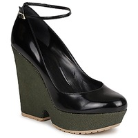 Shoes Women Court shoes Sonia Rykiel LOCK Black / Green