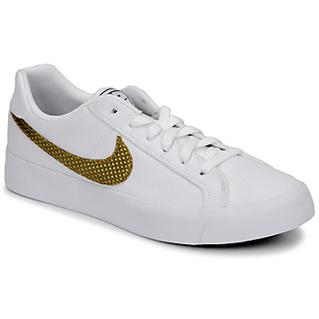 Shoes Women Low top trainers Nike COURT ROYALE AC SE W White / Gold