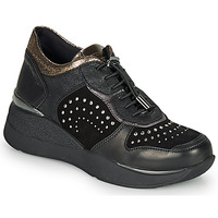 Shoes Women Low top trainers Stonefly ELETTRA 6 Black