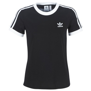 material Women short-sleeved t-shirts adidas Originals 3 STR TEE Black