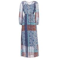 material Women Long Dresses Cream SAMA Blue / Brown