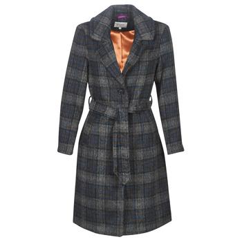 material Women coats Cream CHEKIA Marine / Grey