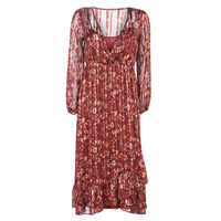 material Women Long Dresses Cream NILA Red