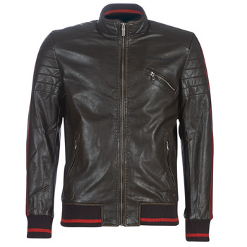 material Men Leather jackets / Imitation leather Desigual ANTON Brown
