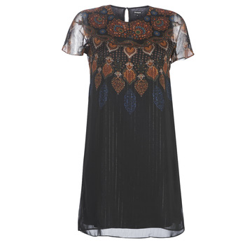 material Women Short Dresses Desigual MEXICAN Black