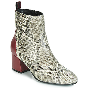 Shoes Women Ankle boots Gioseppo NEUBURG Python / Bordeaux