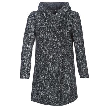 material Women coats Casual Attitude LOUA Grey / Black