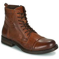 Shoes Men Mid boots Jack & Jones JFW RUSSEL LEATHER Cognac