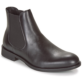 Shoes Men Mid boots Selected LOUIS LEATHER CHELSEA Black