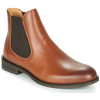 Shoes Men Mid boots Selected LOUIS LEATHER CHELSEA Cognac