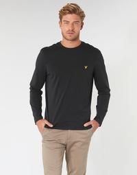 material Men Long sleeved shirts Lyle & Scott TS512V-574 Black