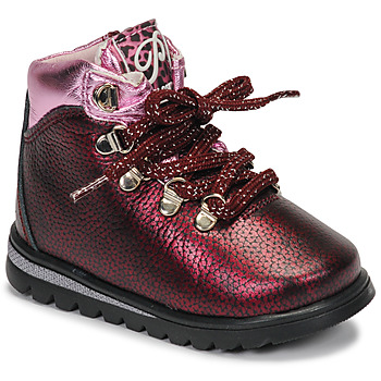Shoes Girl Mid boots Pablosky 66663-C Bordeaux