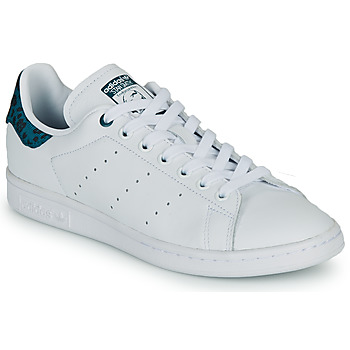Shoes Women Low top trainers adidas Originals STAN SMITH W White / Blue / Leo