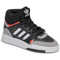 Shoes Boy High top trainers adidas Originals DROP STEP J Black / Grey