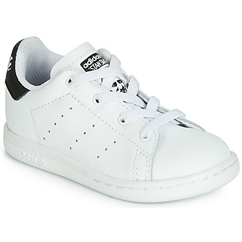 Shoes Children Low top trainers adidas Originals STAN SMITH EL I White / Black