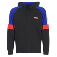 material Men sweaters Levi's PIECED FULLZIP HOODIE Black / Blue / Red
