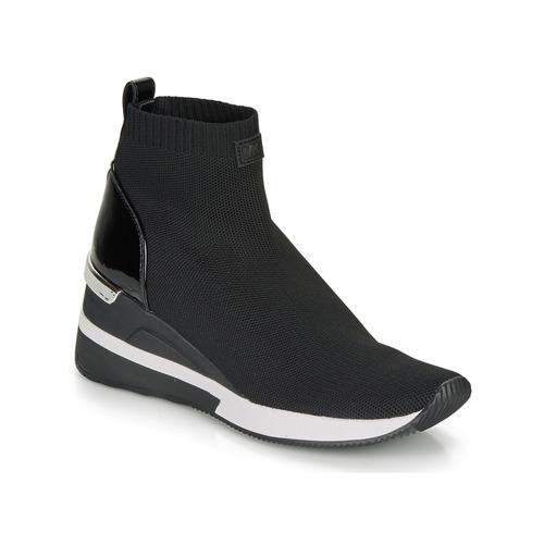 Shoes Women High top trainers MICHAEL Michael Kors SKYLER Black