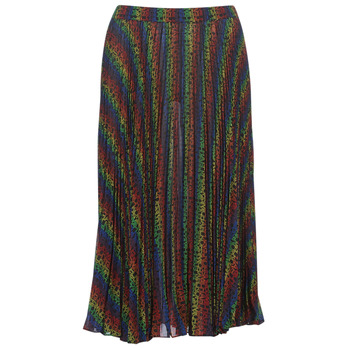 material Women Skirts MICHAEL Michael Kors MULTI LOGO PLEAT SKRT Multicolour