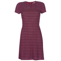 material Women Short Dresses MICHAEL Michael Kors EMBELL FLARE MINI DRS Bordeaux