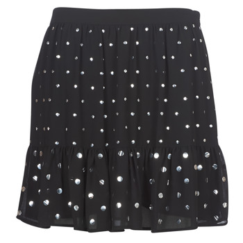 material Women Skirts MICHAEL Michael Kors NAIL HT FLOUNCE SKIRT Black