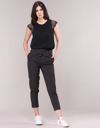 material Women 5-pocket trousers Betty London LAALIA Black / White