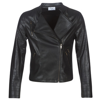 material Women Leather jackets / Imitation leather Moony Mood LAVINE Black