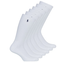 Accessorie Men Socks Polo Ralph Lauren ASX110 6PK CR PP-CREW-6 PACK White