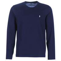 material Men Long sleeved shirts Polo Ralph Lauren L/S CREW-CREW-SLEEP TOP Marine