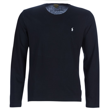 material Men Long sleeved shirts Polo Ralph Lauren L/S CREW-CREW-SLEEP TOP Black