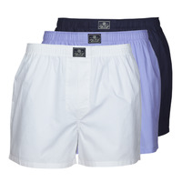 Underwear Men Boxers Ralph Lauren OPEN BOXER-3 PACK-BOXER White / Blue / Marine