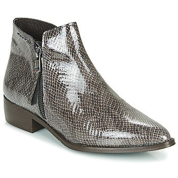 Shoes Women Mid boots Ippon Vintage STING HILL Grey / Varnish