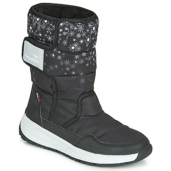 Shoes Girl Snow boots Kangaroos K-FLUFF RTX Black / Grey