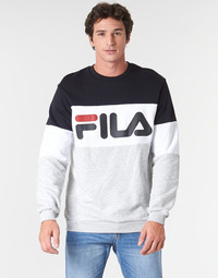 material Men sweaters Fila STRAIGHT BLOCKED CREW Grey / Black