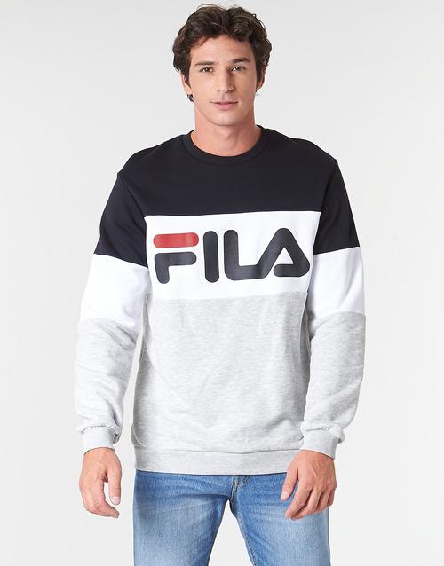 material Men sweaters Fila STRAIGHT BLOCKED CREW Grey / Black