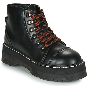 Shoes Women Mid boots Coolway ABLIS Black / Red