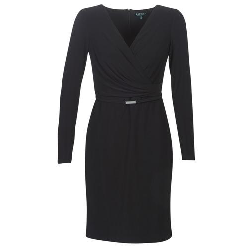 material Women Short Dresses Lauren Ralph Lauren ALEXIE Black