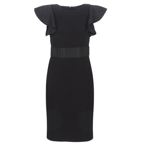 material Women Short Dresses Lauren Ralph Lauren JERSEY SLEEVELESS COCKTAIL DRESS Black