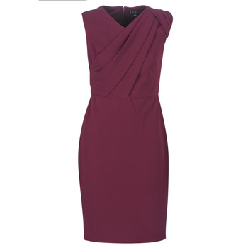 material Women Long Dresses Lauren Ralph Lauren RUBY SLEEVELESS DAY DRESS Bordeaux