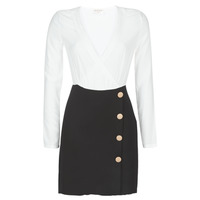 material Women Short Dresses Moony Mood LUCE Black / White