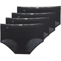 Underwear Women Knickers/panties Sloggi  BASIC+ X 4 Black