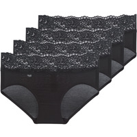 Underwear Women Knickers/panties Sloggi  ROMANCE X 4 Black